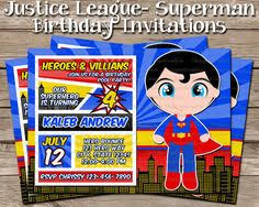 justice league birthday invitation by chicpatternsbychloe on etsy