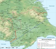 Ottoman Empire Borders File Map Of еastern Thrace Borders Bulgaria Ottoman Empire 1912