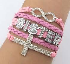 bracelet crystal string images Custom word bracelet rhinestone cross bracelet crystal infinity jpg