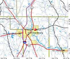 map of hattiesburg ms petal mississippi ms 39465 profile population maps