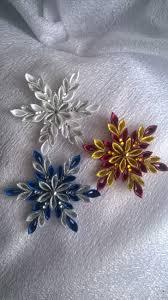 gwiazdeczki choinkowe christmas kanzashi snowflake ornament