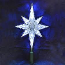 light up star of bethlehem amazon com 10 5 lighted led 8 point star christmas tree topper