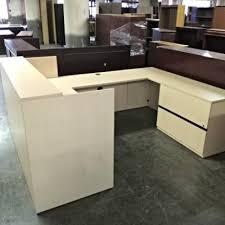 U Shaped Reception Desk Reception Desks Full Size Of Desk Desk Wood Brown Walnut Finish
