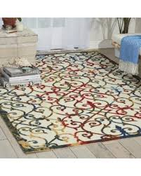 Outdoor Rug 4x6 Slash Prices On Nourison Home And Garden Multicolor Indoor