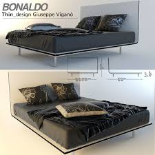 3d model thin bed by bonaldo cgtrader
