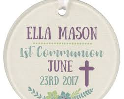 personalized baptism ornament communion ornament etsy