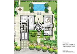 villa floor plan the nest villas 4 bedroom type a2 l ground floor plan