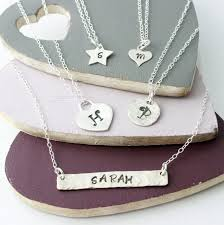 personalised necklaces personalised layering necklaces impressions to keep