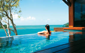 beach house woman in plunge pool ideasgn