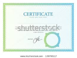 certificate vector template download free vector art stock