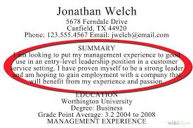 high resume summary exles summary exles for resume resumes for no experience to write a