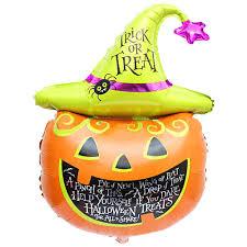 outdoor halloween party decoration white and orange pom pom trick