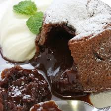 an ooey gooey chocolate lava cake recipe that is best served warm