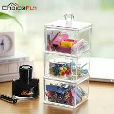 Matching Desk Accessories Choice Selling 3 Tiers Square Office Accessories Clear