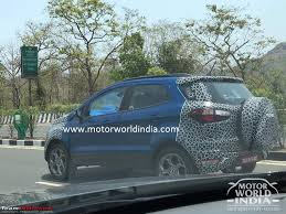 the 2017 ford ecosport facelift caught testing in india team bhp