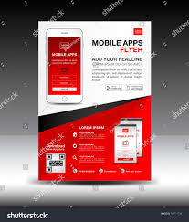 layout magazine app mobile apps flyer template business brochure stock vector 741711736