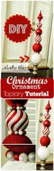 christmas ornament topiary tutorial sweethaute