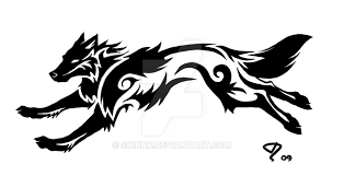 commission tribal wolf by shinnk on deviantart