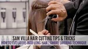 how to cut layers in long hair the ombre layering technique
