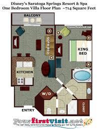 disney world floor plans one bedroom villa floor plan disney s saratoga springs from