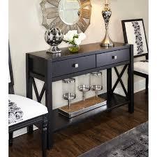 linon home decor anna black storage console table 86107c124 01 kd