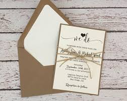 Wedding Invitations Rustic Rustic Wedding Invitation Etsy