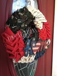 patriotic wreath patriotic burlap wreath burlap petal wreath
