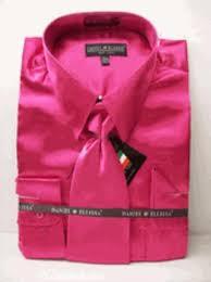 men u0027s new fuchsia fuschia pink satin dress shirt