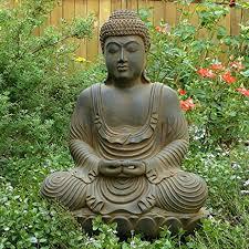 meditating garden buddha statue cast in resin ziji