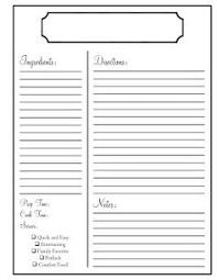 Recipe Book Page Template cookbook page template pertamini co