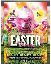 101 best easter party flyer template images on pinterest easter