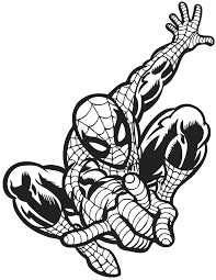 spiderman outline hanging