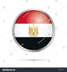 Egypts Flag Vector Egyptian Flag Button Egypt Flag Stock Vector 555646042
