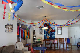 superman only little once the inside of house was decorated