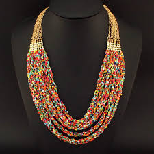 colored bead necklace images Buy uken fashion beaded necklace for women jpg