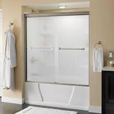 delta mandara 60 in x 58 1 8 in semi frameless sliding bathtub