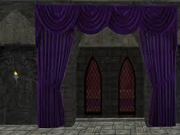 Purple Drapes Or Curtains Second Marketplace Purple Drape Top Curtain