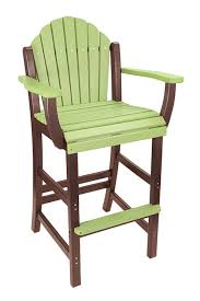 outer banks counter height adirondack fanback poly lumber stool