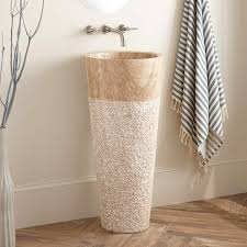 Rough In For Pedestal Sink Winchester Beige Travertine Pedestal Sink Bathroom