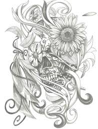 sugar skull drawings with roses freespywarefixescom