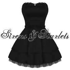 hearts and roses london strapless black lace gothic emo mini party