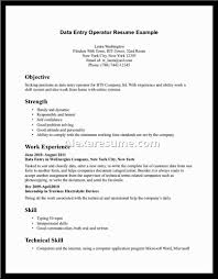 Resume Of Data Entry Operator Resume Data Entry Resume Example