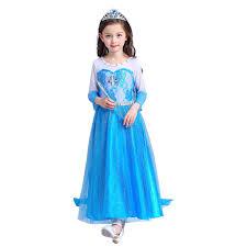 Girls Princess Halloween Costumes U0027s Princess Elsa Long Sleeves Dress Halloween Costume Cosplay
