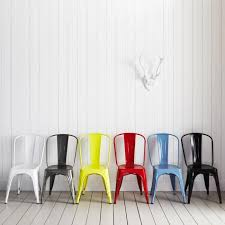 Tolix Dining Chairs 10 Easy Pieces Colorful Outdoor Dining Chairs Remodelista