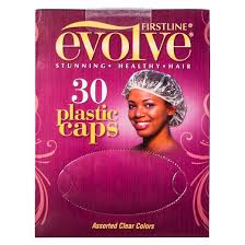 plastic hair firstline evolve plastic hair caps assorted clear colors 30