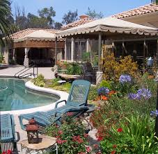 Beautiful Pool Backyards Plant Lover U0027s Paradise In Rancho Santa Fe