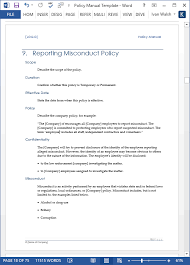 download policy u0026 procedures manual templates ms word 68 pages