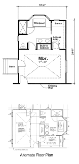 floor plans for two story homes project plan 90027 master bedroom addition for one and two story