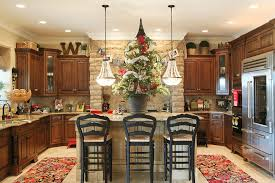 decorating kitchen island staggering flocked tree decorating ideas for kitchen
