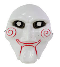 jigsaw billy saw horror halloween costume cosplay accessory face